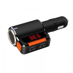Car Charger Bluetooth Hands-Free Dual USB5V 3.1A FM Transmitter Wireless Music Playing Control