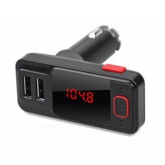 Wireless Hands-free Car Charger Dual USB 5V 2.1A FM Transmitter Phone Call TF Card MP3 Music Player