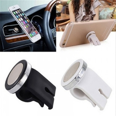 Universal ABS Plastic Magnetic Iron Car Outlet Bracket for Smartphone & Tablets