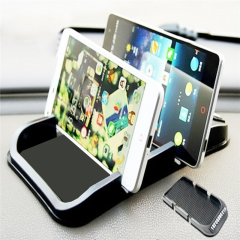 Universal PVC Rubber Digital Double Card Mat for Smartphones