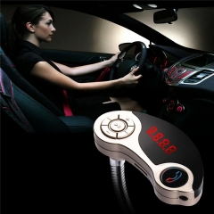ABS Plastic Long Standy Time Car Bluetooth MP3 FM Player Support U Disk & TF Card for Phones