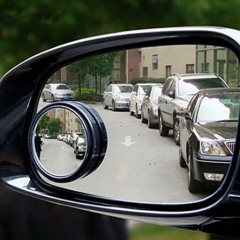 Car Mirror 360 Degree Wide Angle Round Convex Blind Spot Mirror for Parking Backup Mirror Rain Shade BLACK AS PICTURE