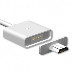 Magnetic 2A Micro USB Cable Charger Data Cable For Samsung LG Google HTC White For Android