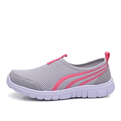 women slip on sneakers sport shoes gray 38