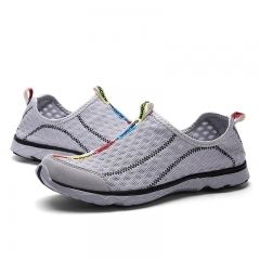 Mens Shoes Breathable Mesh Shoes Super Light Casual Summer Slip On Shoes Men Water Beach Shoes gray 39