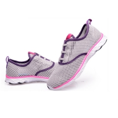 women Summer Running Shoes Women Sneakers Mesh Breathable Sport Shoes Beach Water Shoes gray 36