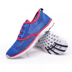 Men Summer Running Shoes Sneakers Mesh Breathable Sport Shoes Men Beach Water Shoes WomensTrainers blue 40