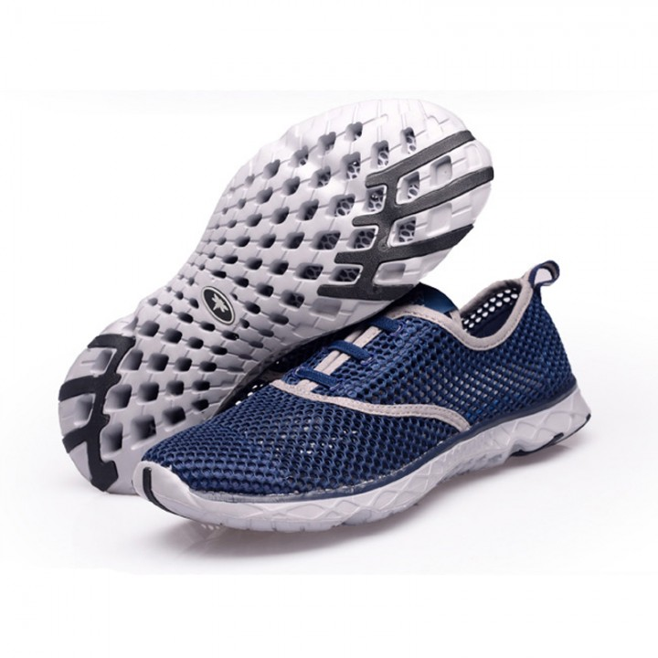 Men Summer Running Shoes Sneakers Mesh Breathable Sport Shoes Men Beach Water Shoes WomensTrainers duck blue 42