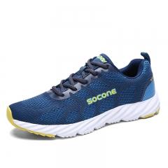 Men Running Shoes Sport Sneakers Man Lightweight Sneakers Women Breathable Walking Shoes blue 39