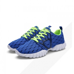 men Mesh Running Shoes Breathable Summer Ladies Sneakers Sport Shoes for men Lightweight Sneakers blue 40