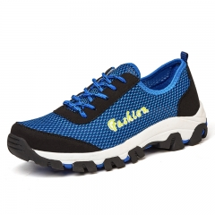 Men Breathable Outdoor Hiking Shoes Men Lightweight Trekking Shoes blue 39