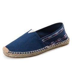 denim Mens Slip-On Espadrille Shoes linen sole canvas shoes color 1 39