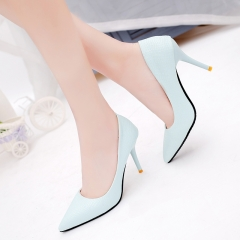 2016 New Fashion   High Heels Pointed Toe Sandals Shoes Pumps Party Womens  Female  Shoes purple 34
