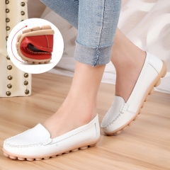 2016 Fashion Women Cow Split soft sole Genuine Leather Platform Leasure Shoes red 35