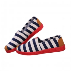 flat shoes women 2016  Canvas Breathable Ladies Loafers Espadrille Shoes Women  Casual Shoes XY001 blue stripe 40