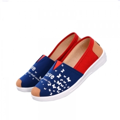 flat shoes women 2016 Canvas Breathable Ladies Loafers Espadrille Shoes Women  Casual Shoes XY002 Denim blue 40