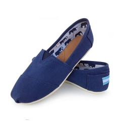 denim mens Slip-On Espadrille Shoes linen sole canvas men shoes SSFT-001 blue 42