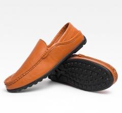 Men  Driving Shoes Leisure Men Shoes Moccasin-Gommino Flats Handmade Moccasins Men Shoes WF-803 Brown 39