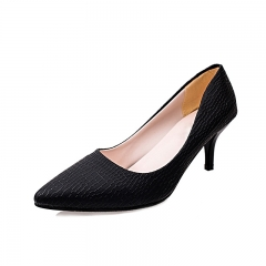 Fashion Women pointed toe  High Heels shoes Thick Heel Pumps elegant party woman shoes black 34