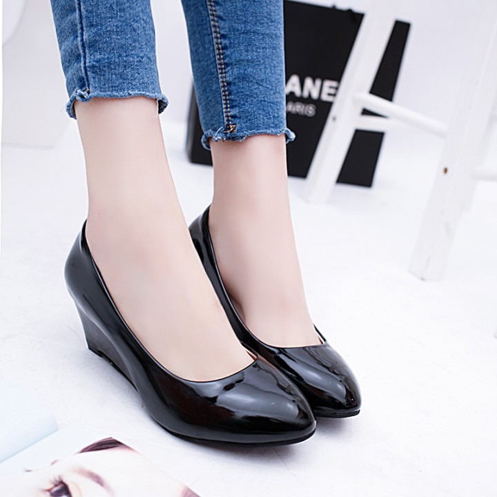 2bbb98b2cf3 Women wedge shoes Pumps Party Shoes Woman elegant party woman office shoes  black 39