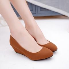 New fashion Women wedge shoes Pumps Party Shoes office shoes khaki 35