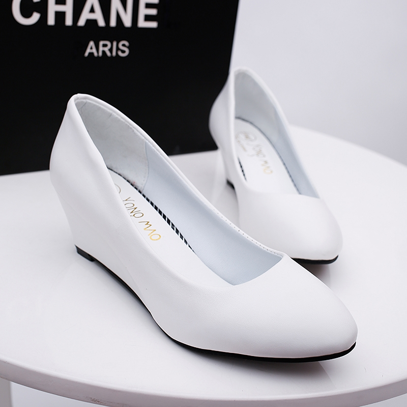 fab1c4805ca3 New fashion Women wedge shoes Pumps office shoes white 35   Kilimall ...