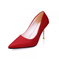 Fashion Woman Pointed Toe High Heels pumps Women single  office shoes red 34
