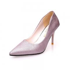 Woman Pointed Toe High Heels pumps Women single office shoes purple 34
