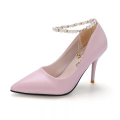 Woman Pointed Toe  High Heels pumps Women elegant office shoes pink 34