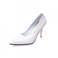 Fashion Woman Pointed Toe High Heels pumps Women elegant office shoes white 34