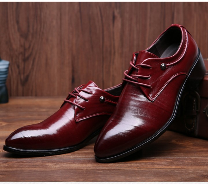 454b3dbd37ce Men PU leather shoes commercial Business shoes wedding shoes red 42 ...