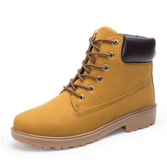Men's martin cowboy  Boot  Outdoor Waterproof Rubber Leisure  Boots England  Retro shoes yellow 39