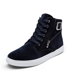 Men  Fashion  Boots PU Leather Footwear shoes Casual Shoes blue 39