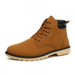 Men's Desert Boots Outdoor BOOTS Martin Shoes Climbing Shoes yellow 39