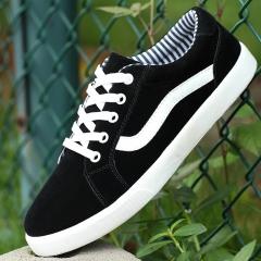 Men  canvas casual shoes  Fashion Breathable flats black 39