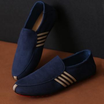 Men's Moccasins shoes casual Shoes blue 43