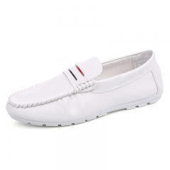 Fashion Men's Moccasins Loafers Flats casual Shoes white 39