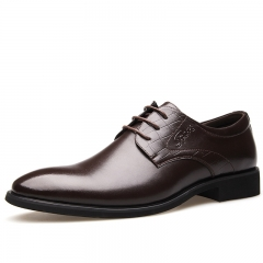 Fashion Men's Flats Formal Shoes Classic Business Shoes brown 38