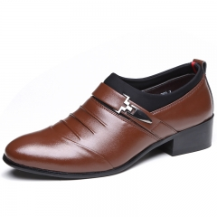 Men's Flats Formal Shoes Classic Business Shoes casual shoes brown 38