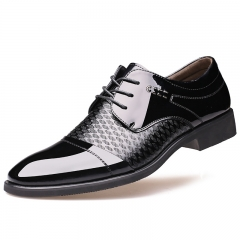 New style Fashion men's business shoes weding shoes formal office shoes black 38