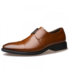 New style Fashion men's business shoes weding shoes office shoes brown 38