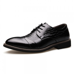 New style Men's classical  business shoe for luxuary crocodile pattern shoes black 38