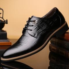 Fashion Men Genuine COW Leather Shoes Men's Flats Formal Shoes Classic Business Shoes black 38