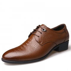 2017 New  style  fashion Men Genuine COW Leather Shoes Formal Shoes Classic Business Shoes brown 38