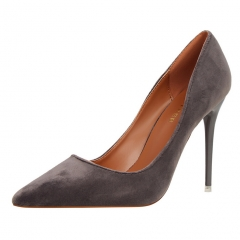 New Fashion Woman Pointed Toe High Heels pumps women office shoes grey 34