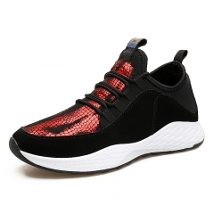 Men's Sport Running Shoes  Breathable Mesh Sport Shoes Outdoor Training Jogging Shoes Sneakers Black-red 39