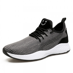 Men's Athletic Sport Shoes breathable  Mesh men Sneakers Running Shoes outdoor shoes gray 39