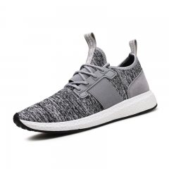 Running Shoes For Men's Mesh Breathable Sport Shoes Sneakers Light Comfort Sports flyknit Shoes gray 39