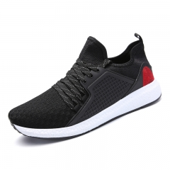 Running Shoes For Men's Mesh Breathable Sport Shoes Sneakers Light Comfortable Sports  Shoes black 39
