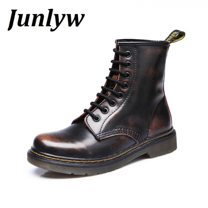 Junlyw Fashion Ankle Boots  men's Motorcycle Martin Boots men Oxfords men Shoes brown 40